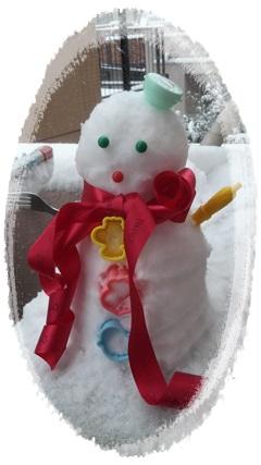 かわいい雪だるま.JPG